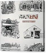 Cheshire Landmarks Acrylic Print