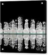 Chess Game Reflection Acrylic Print