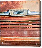 Chevrolet 31 Apache Pickup Truck Grille Emblem Acrylic Print