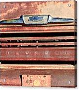 Chevrolet Apache 31 Pickup Truck Grille Emblem Acrylic Print