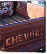 Chevrolet Apache 31 Pickup Truck Tail Gate Emblem Acrylic Print