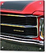 Chevrolet Chevelle Ss Grille Emblem Acrylic Print