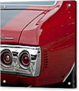 Chevrolet Chevelle Ss Taillight Emblem 3 Acrylic Print