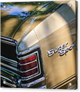 Chevrolet Chevelle Ss Taillight Emblems Acrylic Print