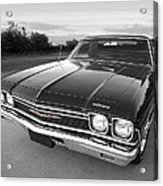 Chevrolet El Camino In Black And White Acrylic Print