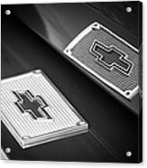 Chevrolet Emblem - 131bw Acrylic Print