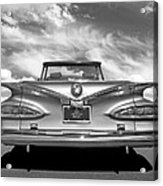 Chevrolet Impala 1959 in Black and White Acrylic Print