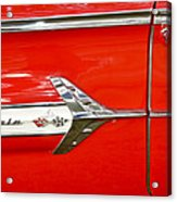 Chevrolet Impala Classic In Red Acrylic Print