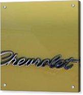 Chevrolet Logo Acrylic Print