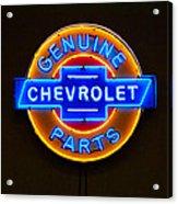 Chevrolet Neon Sign Acrylic Print