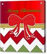 Chevron Christmas Acrylic Print