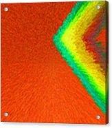 Chevron Rainbow Orange C2014 Acrylic Print