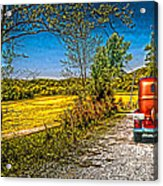 Chevy 34 Sweet Country Road Acrylic Print