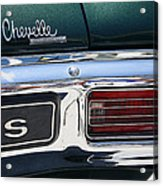 Chevy Chevelle Malibu Super Sport Acrylic Print