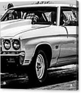 Chevy Chevrolet Chevelle Ss Burning Rubber Acrylic Print