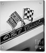 Chevy Corvette 427 Turbo-jet Emblem Acrylic Print by Paul Velgos
