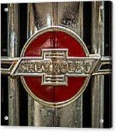 Chevy Emblem Acrylic Print by Paul Freidlund