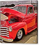 Chevy Hot Red Acrylic Print