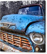 Chevy In The Woods Acrylic Print by Debra and Dave Vanderlaan