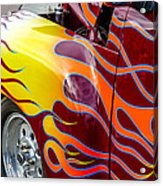 Chevy Pickup Flames Acrylic Print