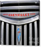Chevy Truck Grill Acrylic Print
