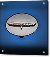 Chevy Vet Gas Cap Emblem Acrylic Print