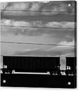 Cheyenne Wy Train Yard Dec 2014 Acrylic Print