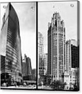 Chicago 333 And The Tower 2 Panel Bw Acrylic Print