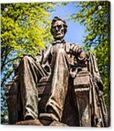 Chicago Abraham Lincoln Sitting Statue Acrylic Print
