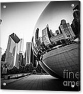 Chicago Bean Cloud Gate In Black And White Acrylic Print by Paul Velgos