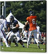 Chicago Bears G Matt Slauson Training Camp 2014 02 Acrylic Print