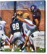 Chicago Bears P Patrick O'donnell Training Camp 2014 Photo Art 02 Acrylic Print