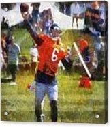 Chicago Bears Qb Jay Cutler Training Camp 2014 04 Photo Art 02 Acrylic Print