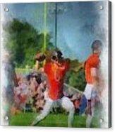 Chicago Bears Qb Jay Cutler Training Camp 2014 Pa 01 Acrylic Print