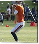 Chicago Bears Qb Jimmy Clausen Training Camp 2014 03 Acrylic Print
