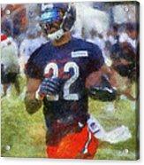 Chicago Bears Rb Matt Forte Training Camp 2014 Photo Art 02 Acrylic Print