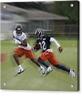 Chicago Bears Rb Michael Ford Moving The Ball Training Camp 2014 Acrylic Print