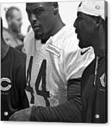 Chicago Bears S Adrian Wilson Training Camp 2014 Bw Acrylic Print