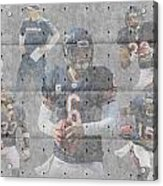 Chicago Bears Team Acrylic Print by Joe Hamilton