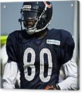Chicago Bears Wr Armanti Edwards Training Camp 2014 01 Acrylic Print