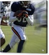 Chicago Bears Wr Chris Williams Moving The Ball Training Camp 2014 Acrylic Print