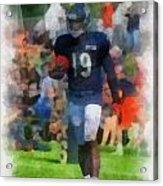 Chicago Bears Wr Josh Morgan Training Camp 2014 Pa 01 Acrylic Print