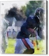 Chicago Bears Wr Micheal Spurlock Training Camp 2014 04 Pa 01 Acrylic Print