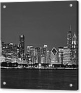 Chicago Black And White Evening Acrylic Print