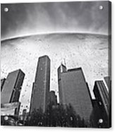 Chicago Black And White Photography Acrylic Print by Dapixara Art