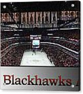 Chicago Blackhawks At Home Panorama Sb Acrylic Print