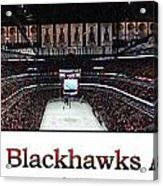 Chicago Blackhawks At Home Panorama White Acrylic Print