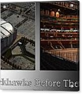 Chicago Blackhawks Before The Gates Open Interior 2 Panel Sb Acrylic Print