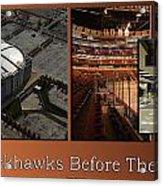 Chicago Blackhawks Before The Gates Open Interior 2 Panel Tan 01 Acrylic Print