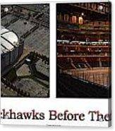 Chicago Blackhawks Before The Gates Open Interior 2 Panel White 01 Acrylic Print